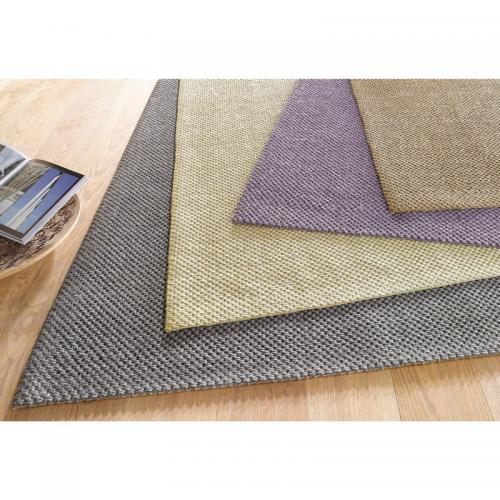 my home - Tapis carré ou rectangulaire en véritable sisal My Home Monza - Violet - Tapis de salon