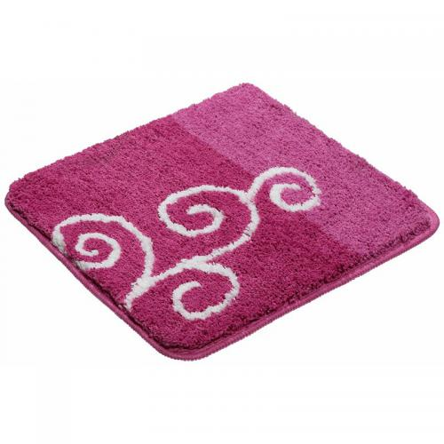 my home - Tapis de bain rectangulaire motif fantaisie (1850gm²) My Home - Rose - Linge de maison