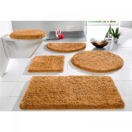 my home - Tapis de bain uni 1900gm2 San Remo My Home - Marron - Tapis de bain