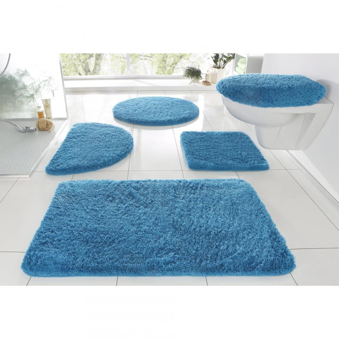 Tapis De Bain Et Tapis De Wc Merida My Home Bleu 3 Suisses
