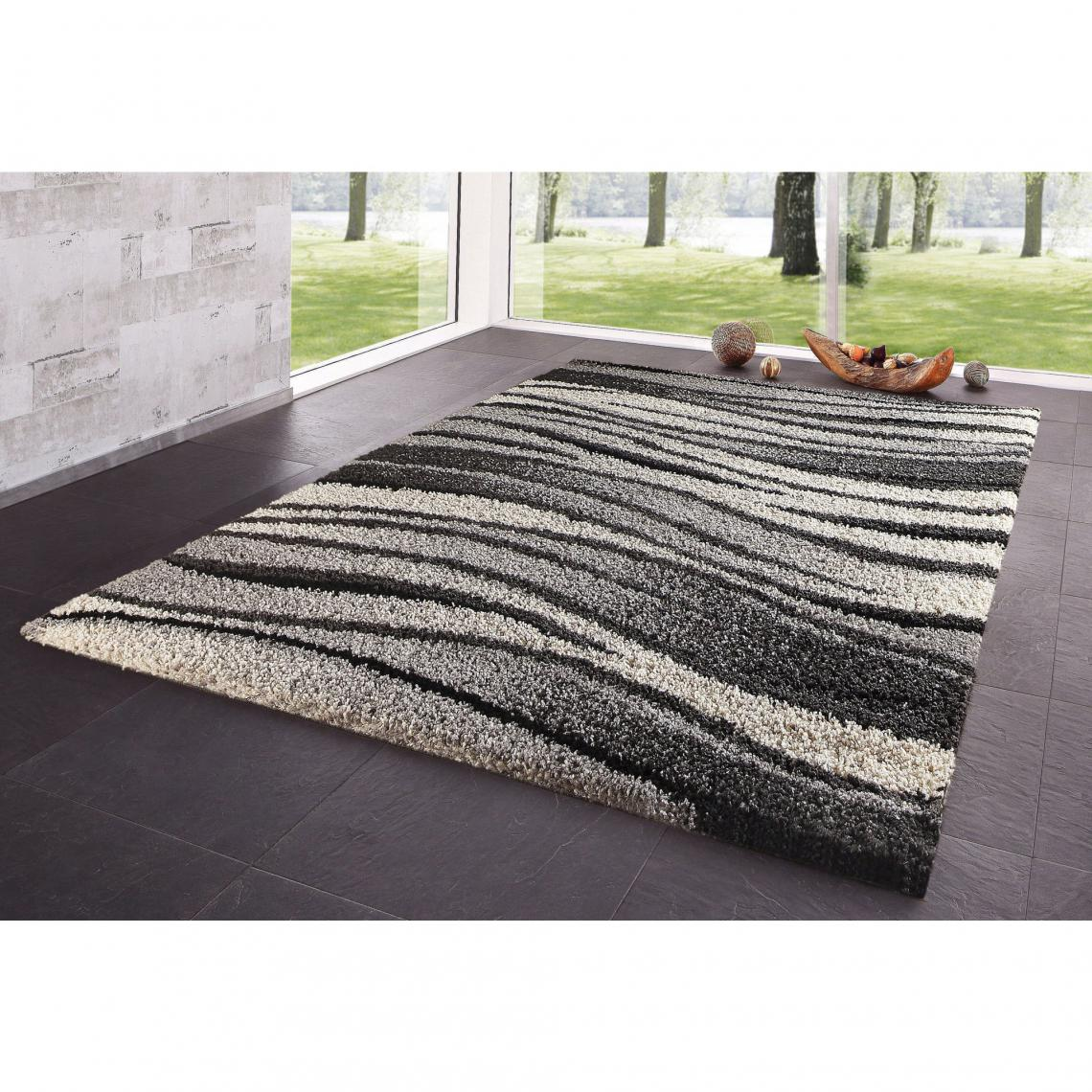 Tapis Rectangulaire Motif Graphique Nuances De Gris My Home 3