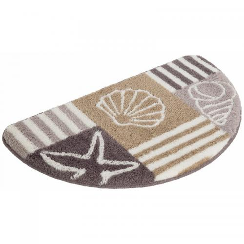 my home - Tapis de bain demi-cercle My home Nancy - Marron - Linge de maison