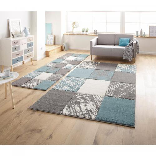 my home - Tapis rectangulaire Galina My Home - Bleu - Tapis de salon