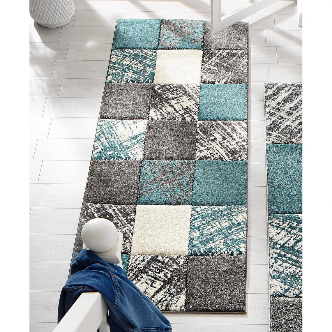 Tapis De Couloir Galina My Home Bleu 3 Suisses