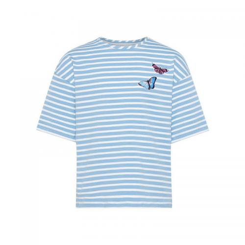 Name It - Tee-shirt rayé manches courtes fille Name it - Bleu - Vêtements fille