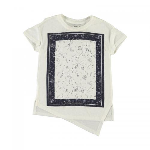 Name It - Tee-shirt asymétrique manches courtes fille Name it - Blanc Cassé - Vêtements fille