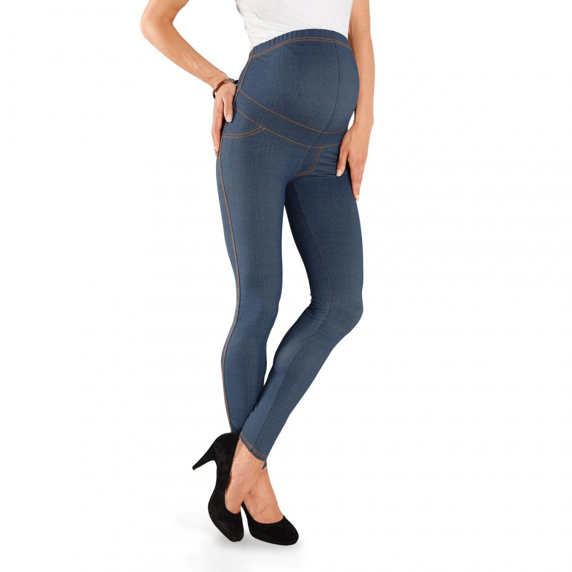 5ab4b98089a9c Legging de grossesse façon jean 9 Monate - Blue Denim Neun Monate Femme