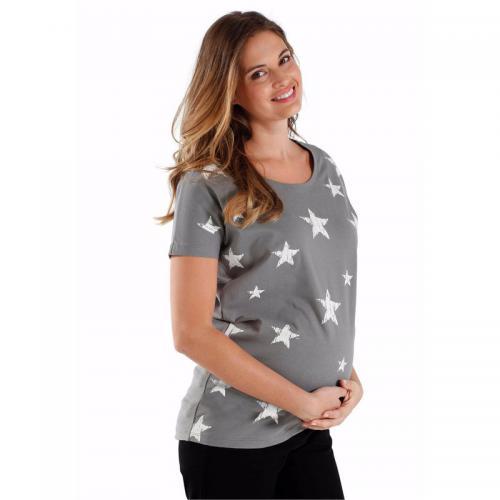 f86e0b1e577 Neun Monate - T-shirt de grossesse à motifs Neuf mois - Gris - Maternité