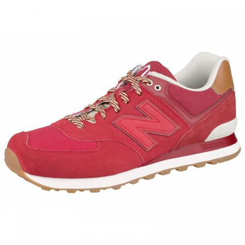 New Balance - New Balance ML 574 baskets basses à lacets homme - Rouge - Promos Homme