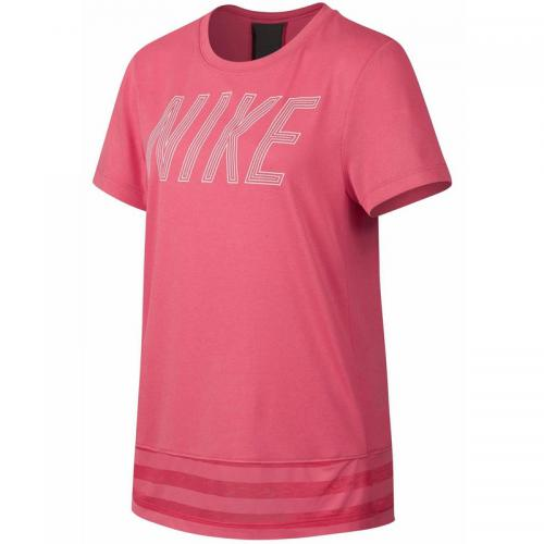 Nike - T-shirt col rond manches courtes fille Dri-FIT® Nike - Corail - Sport enfant