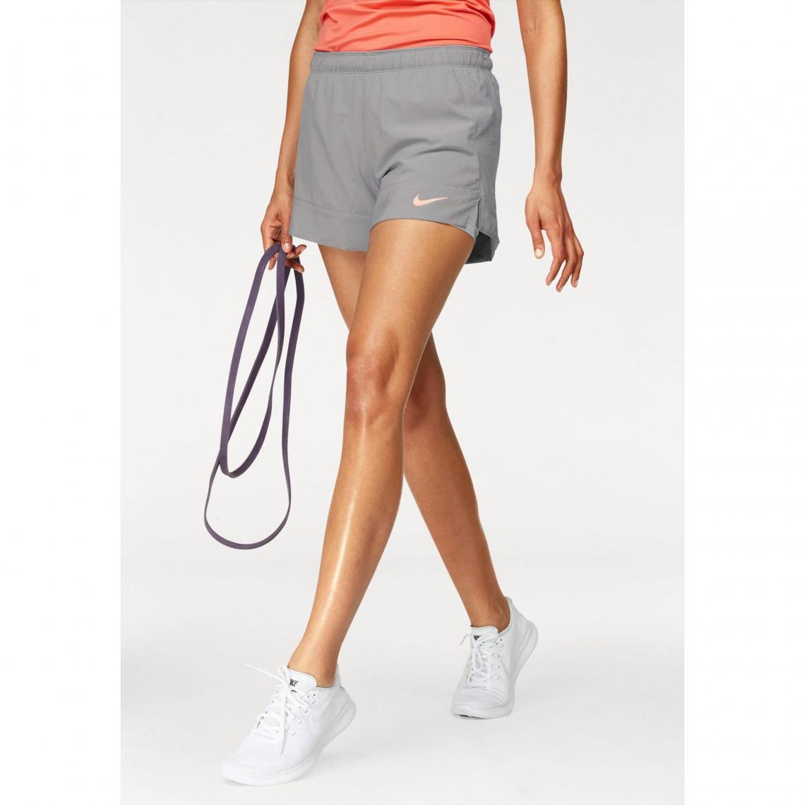 short court 2en1 femme Nike - Gris Nike Femme 749cd85fab2