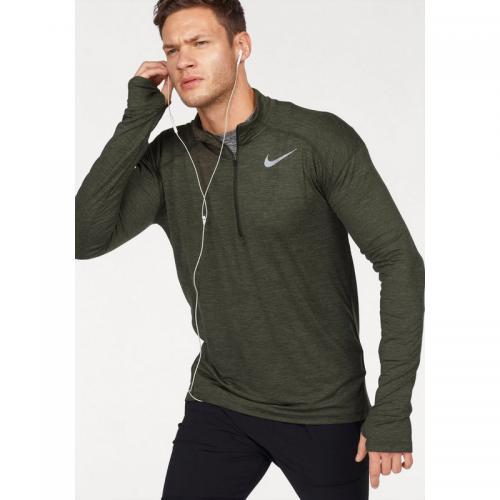 Nike - Tee-shirt Dry fit zippé manches longues homme de Nike - Kaki - c1fd2471f02