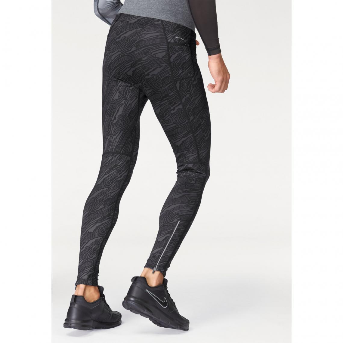 Collant de running homme Dri-FIT Tech Elevated Tight Nike - Noir  418bd3b530c