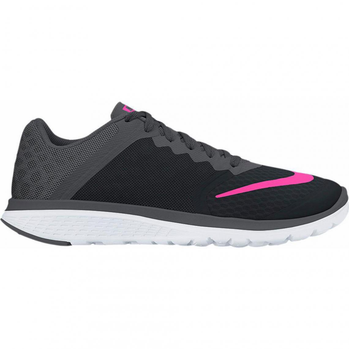 d50336312ed1c Nike FS Lite Run 3 Wmns baskets femme - Noir - Rose Fluo   3Suisses
