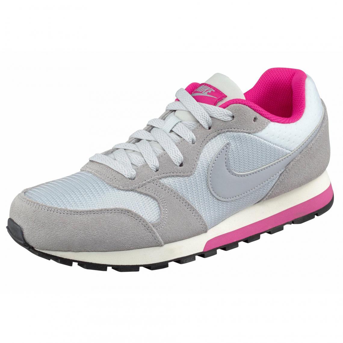 afe18a9cb0b5d Nike chaussures de running MD Runner 2 Wmns femme - Gris Clair - Rose Nike  Femme