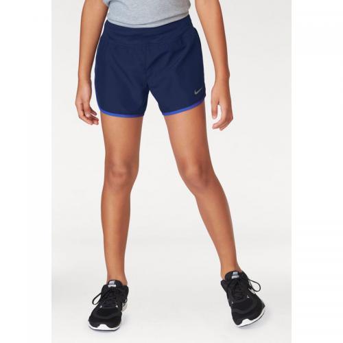 best sneakers 80b9e d475f Nike - Short de sport fille doublé Dry Rival Nike avec culotte intégrée -  Bleu -