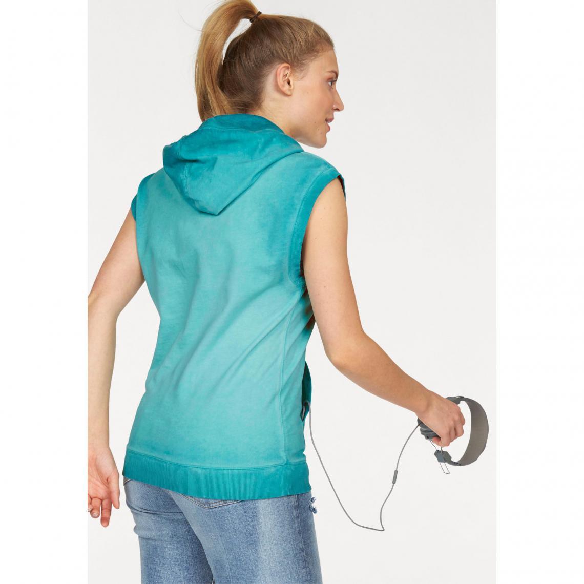 lowest price shopping 100% authentic Sweat-shirt de sport femme long à capuche sans manches ...
