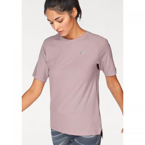 Nike - T-shirt de running col rond manches courtes femme Dri-Fit® Nike Tailwind - rosé - Nike