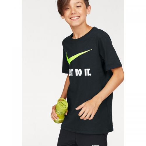 Nike - T-shirt manches courtes garçon Just Do It Swoosh Tee Youth Nike - Rouge - Vêtements garçon