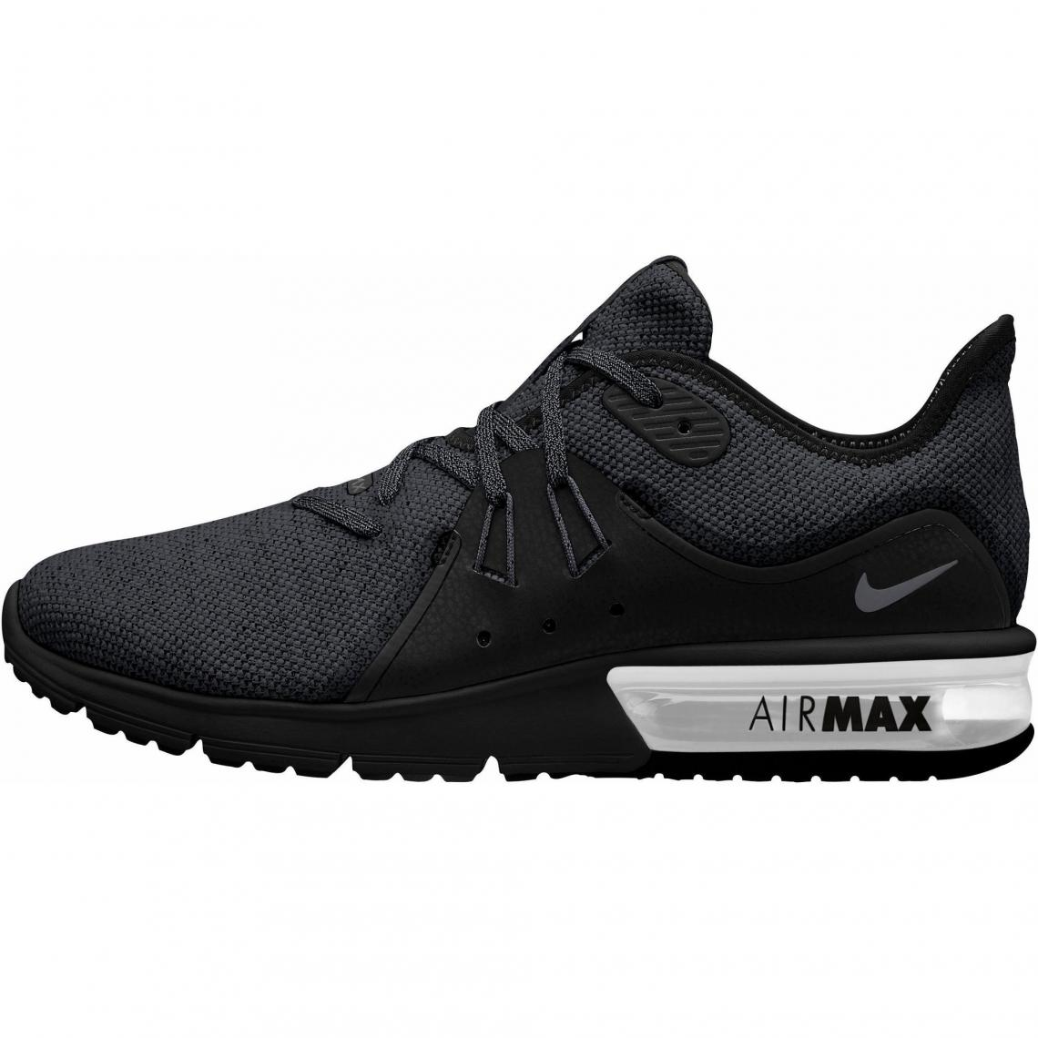 uk availability f8499 148d5 Sneakers running homme Air Max Sequent 3 NIKE - Noir - Blanc Nike Homme