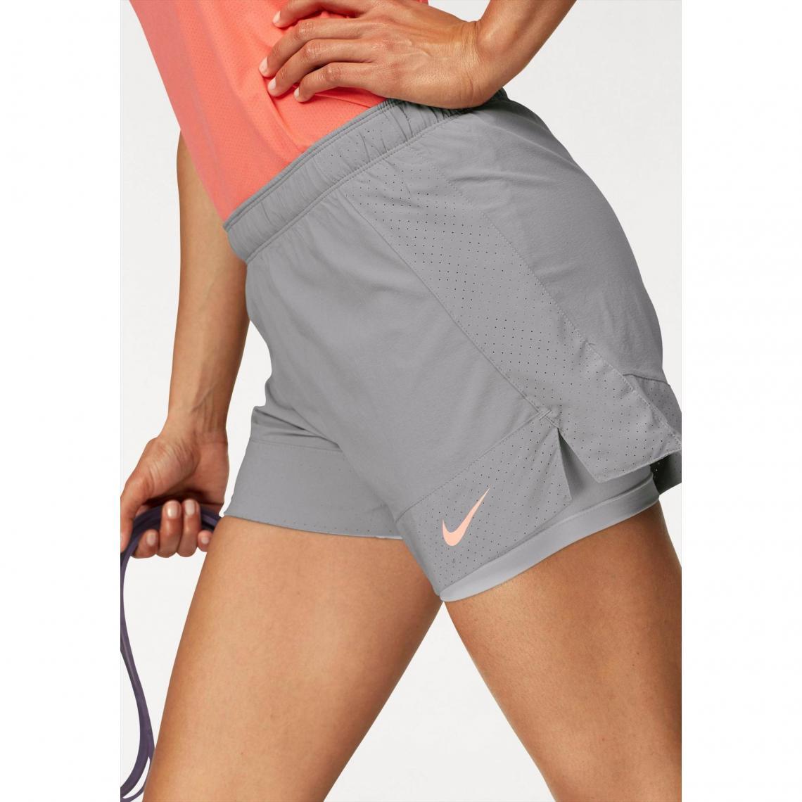 short court 2en1 femme Nike - Gris Nike 05b0cc10dba
