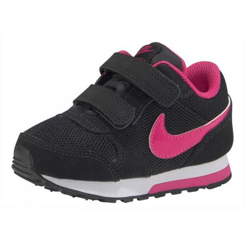 Nike - Baskettes fille MD runner 2 de Nike - Noir - Rose - Vêtements fille