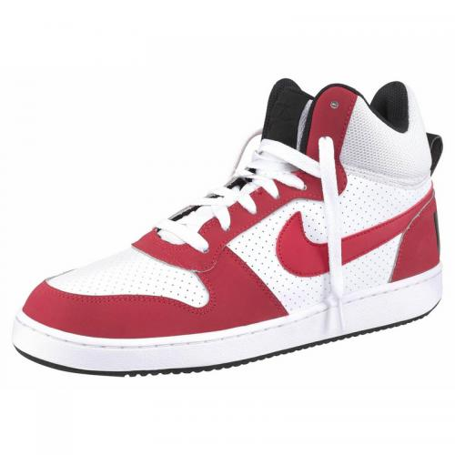 Nike - Nike Court Borough Mid chaussure semi-montante homme - Blanc - Rouge - Baskets