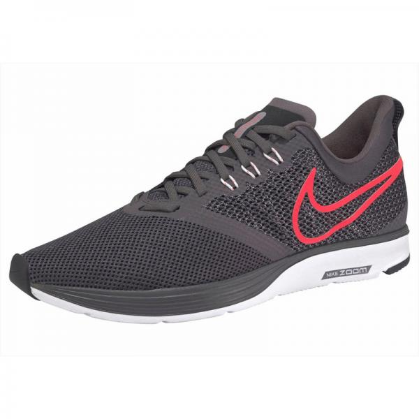 Baskettes de running NIKE Zoom Strike pour homme - Gris Anthracite - Orange Nike Homme