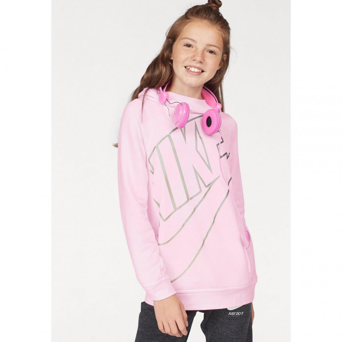 Sweat enfilable à capuche fille Nike - Rose Nike Enfant ab3e08d0f282