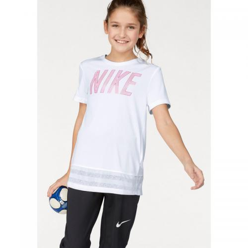 Nike - T-shirt col rond manches courtes fille Dri-FIT® Nike - Blanc - Sport enfant