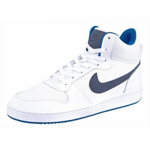 Nike - Nike Court Borough Mid chaussure semi-montante homme - Blanc - Bleu - Sneakers homme