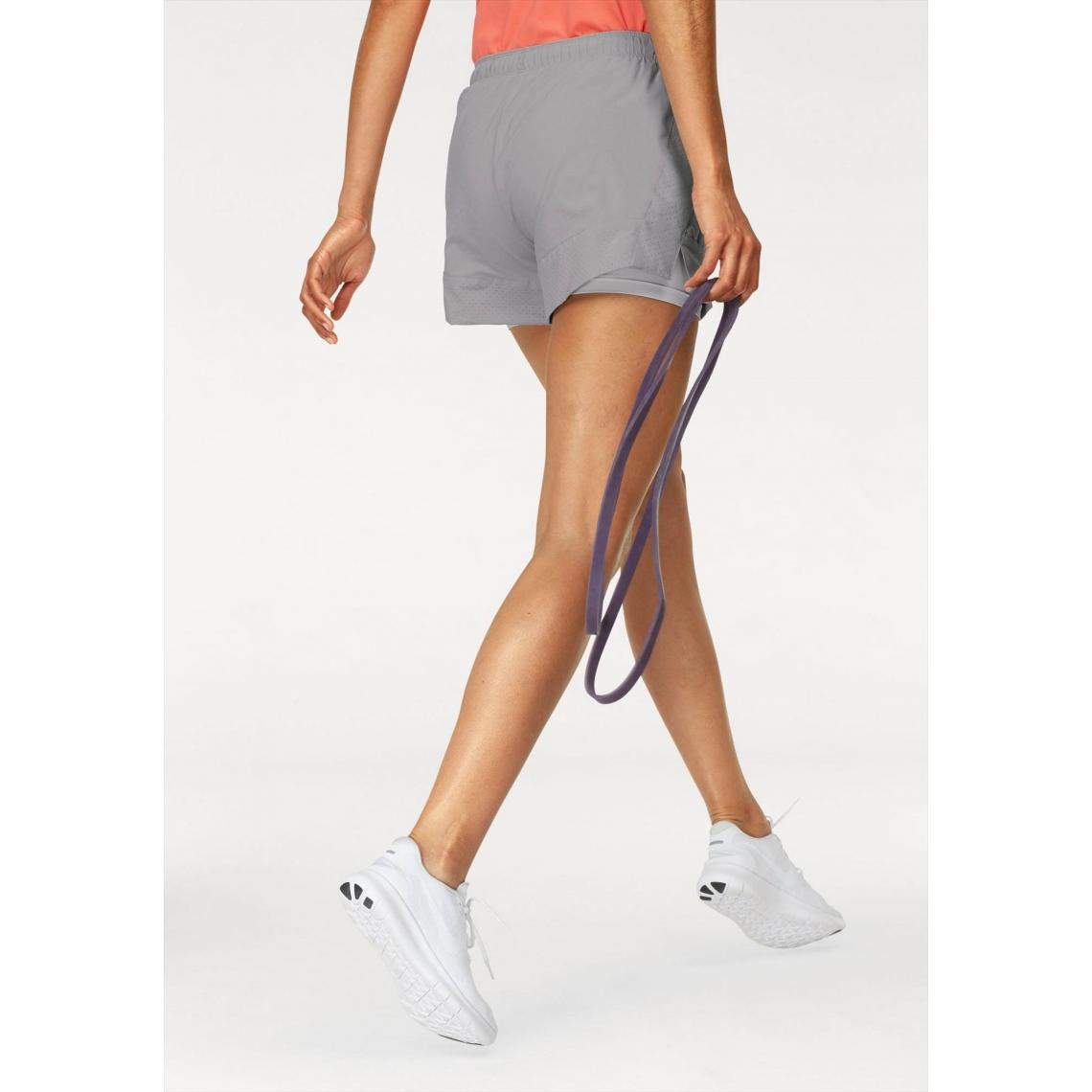 short court 2en1 femme Nike - Gris  3d4f2375b30