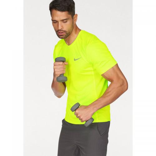 Nike - T-shirt manches courtes homme Dry Miler Top Nike - Jaune Fluo - T-shirts sport homme