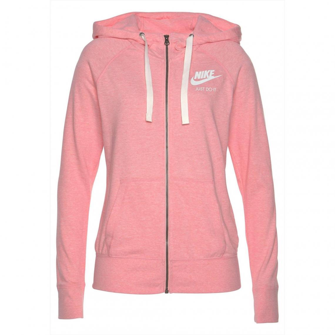 f3f4b2598669 Sweat zippé à capuche femme Nike - Rose Nike