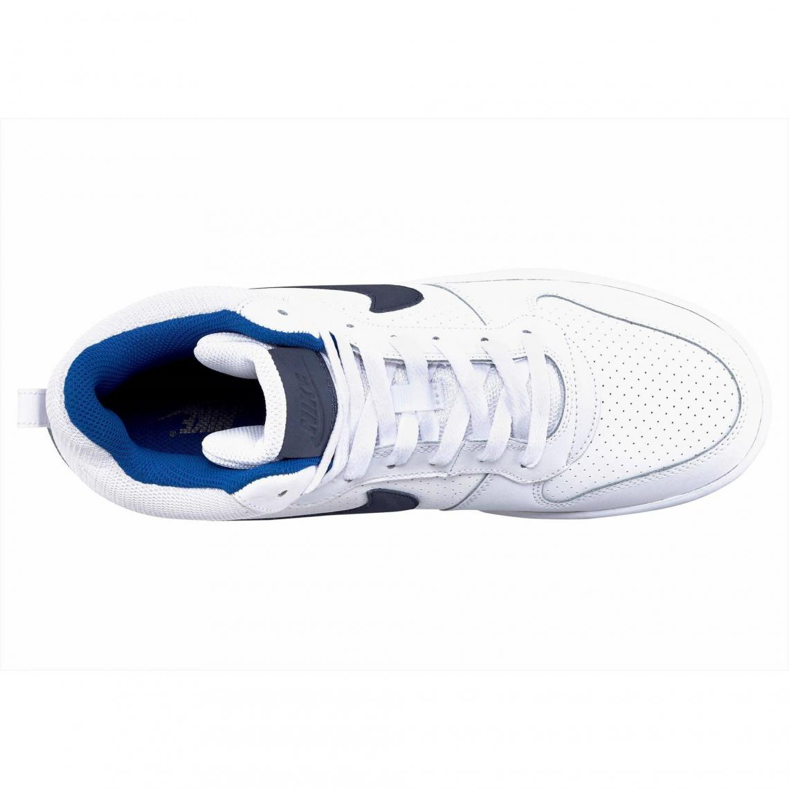huge discount b6f20 5a8c6 Nike Court Borough Mid chaussure semi-montante homme - Blanc - Bleu Nike