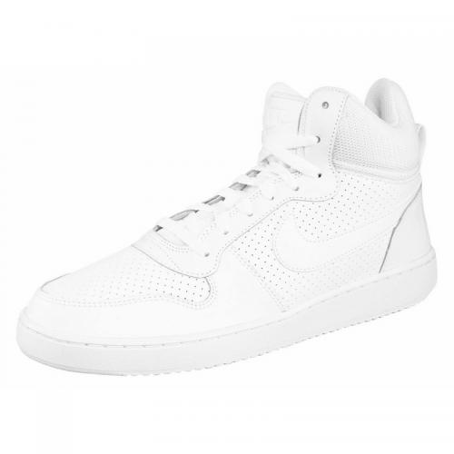 Nike - Nike Court Borough Mid chaussure semi-montante homme - Blanc - Blanc - Baskets
