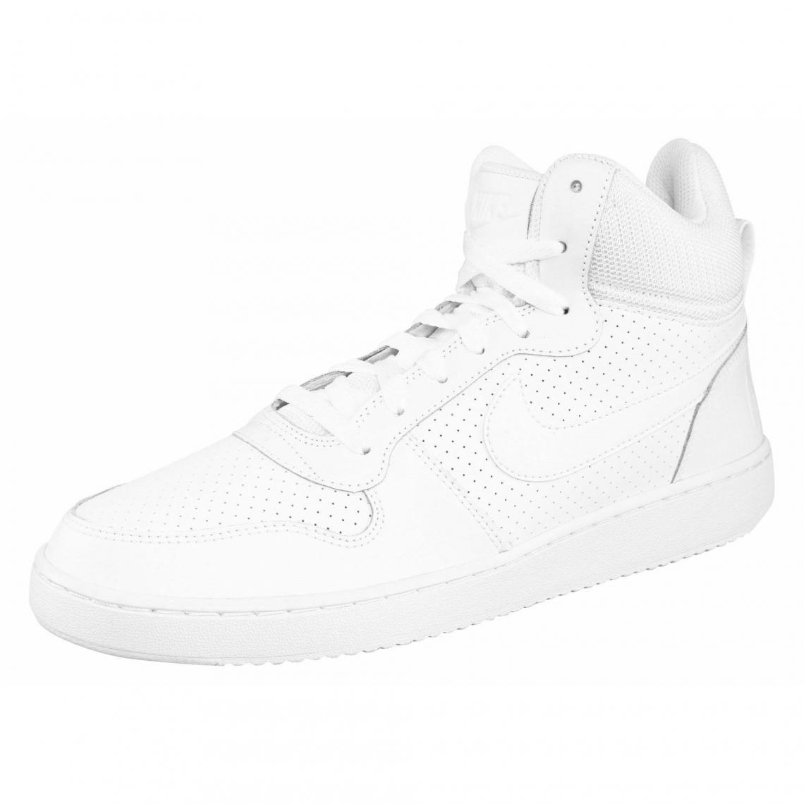 29fe11a46def Nike Court Borough Mid chaussure semi-montante homme - Blanc - Blanc ...