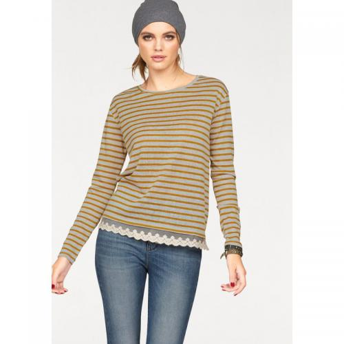 Only - Pull rayé manches longues femme Only® - Jaune - Only