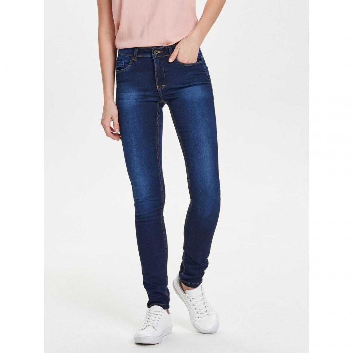 763a161ab9b Jean skinny regular super stretch L34 femme Only - Denim Foncé Only Femme