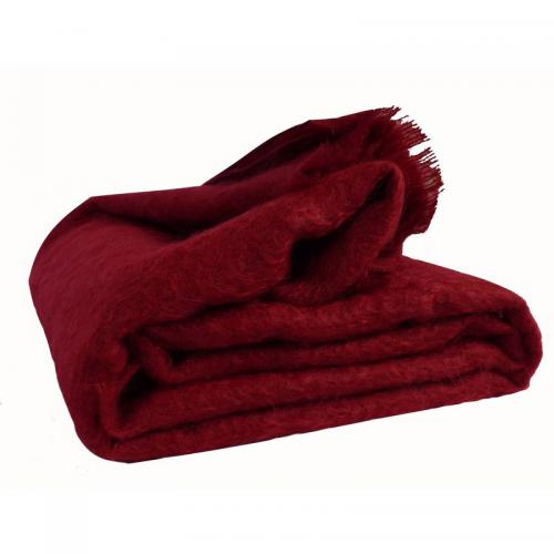 Couverture Mohair 320g Ourson - Rouge Ourson Literie