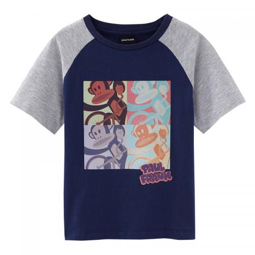 e357c093cc170 Paul Franck - Tee-shirt manches courtes garçon Paul Frank - Bleu - T-