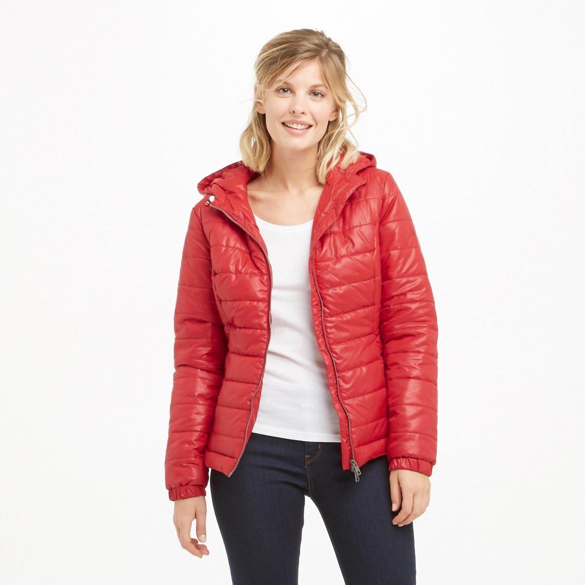 e5934f255755 Doudoune courte à capuche Alania femme Pepe Jeans - Rouge Pepe Jeans Femme