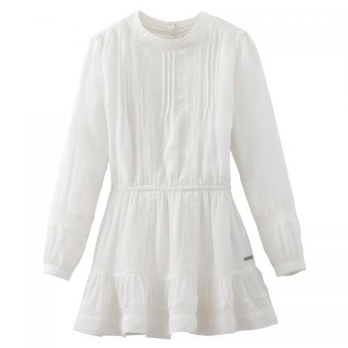Pepe Jeans - Robe broderie anglaise fille Veronica Pepe Jeans - Blanc - Promotions Enfant