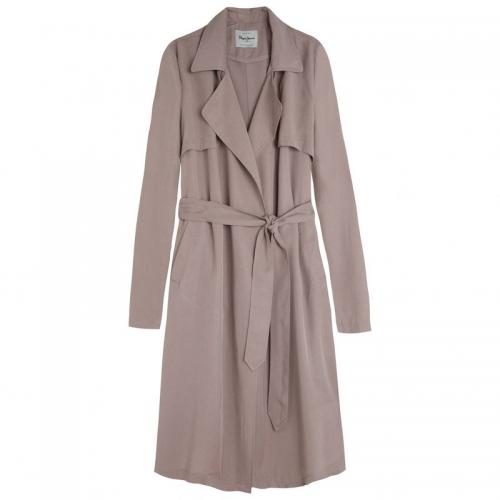 Pepe Jeans - Trench long manches longues léger femme Charlena Pepe jeans - Beige - Trench