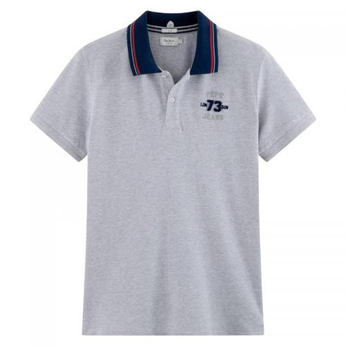 Pepe Jeans - Polo manches courtes maille piquée homme Cooper Pepe Jeans - Gris - T-shirt / Polo