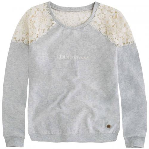 Pepe Jeans - Sweat détails dentelle col rond Kiley Teen fille Pepe Jeans - Gris - Promotions