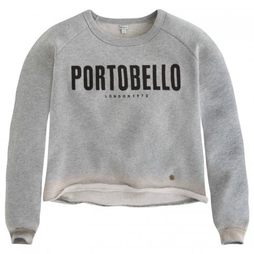 Pepe Jeans - Sweat col rond manches longues imprimé graphique Kari Teen fille Pepe Jeans - Gris - Pepe jeans