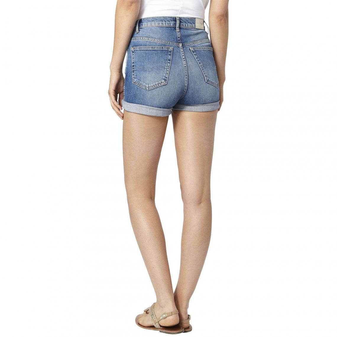 1d23111a070 Short en jean slim femme Pepe Jeans - Bleu