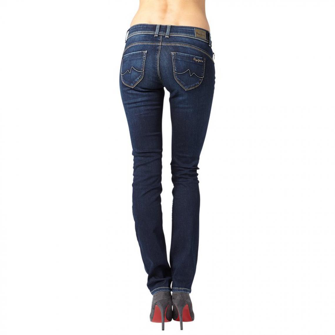 3c11f639294 Jean slim longueur US 32 femme New Brooke Pepe Jeans - Bleu