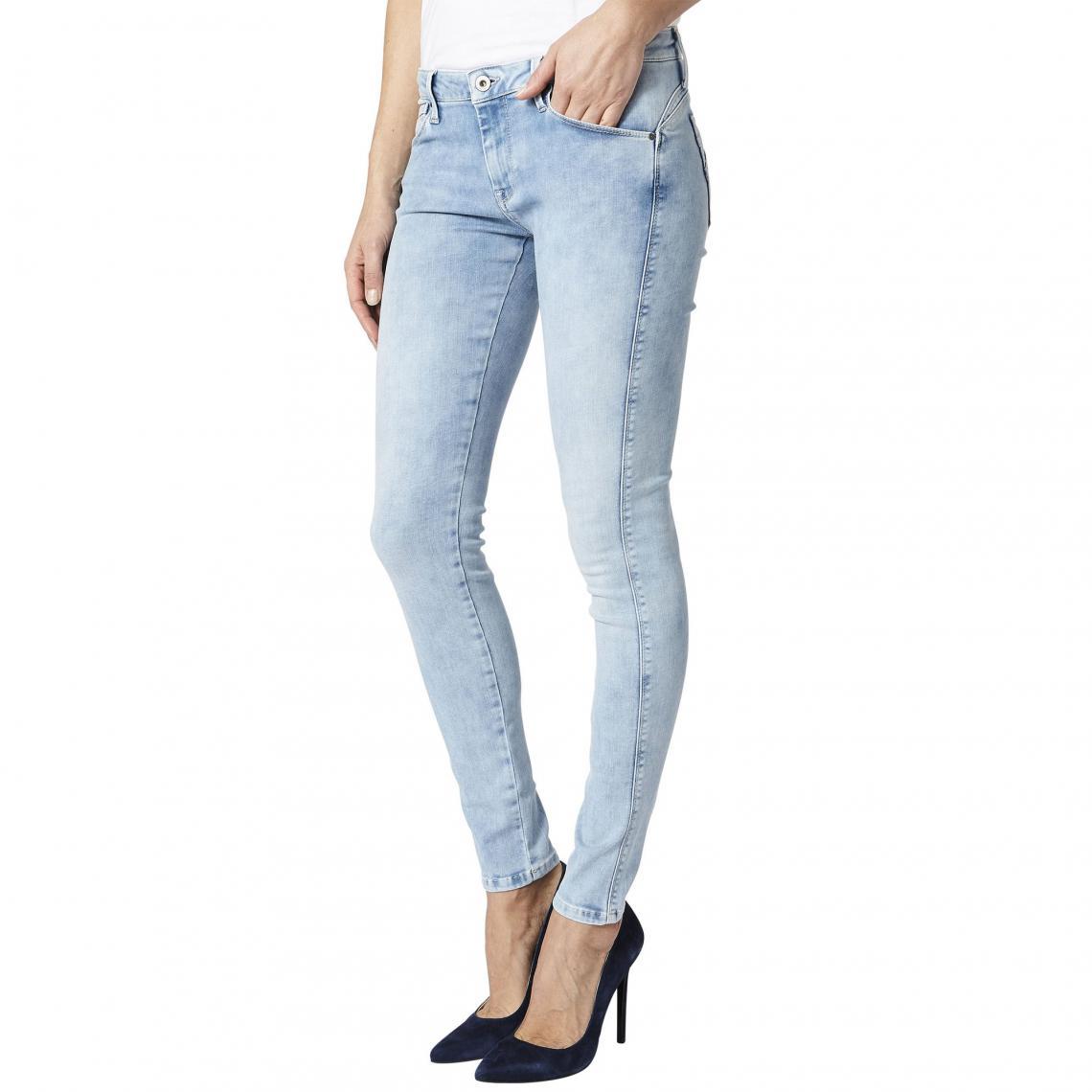 29cc5327f0d Jean skinny femme US 30 Aero Pepe Jeans - Bleu Pepe Jeans Femme